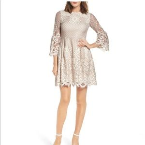 NWT Eliza J Fit and Flare Lace Dress